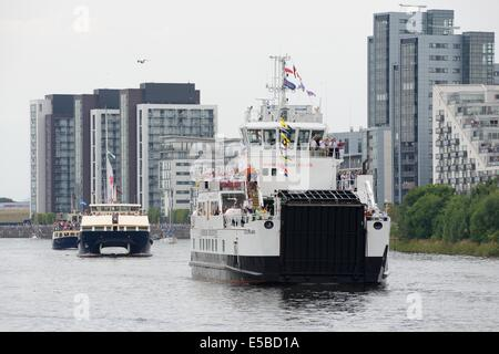 Glasgow, Scotland, UK. 26th July, 2014. Commonwealth games flotilla. Approximately 250 boats of all shapes and sizes - Stock Photo