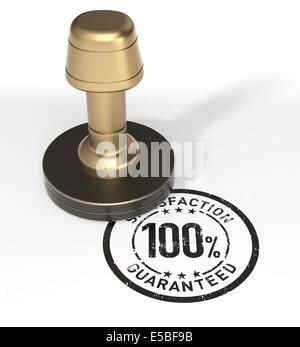 Satisfaction 100% Guaranteed Rubber Stamp - Stock Photo