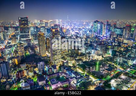 Tokyo, Japan cityscape in the Minato Ward. - Stock Photo