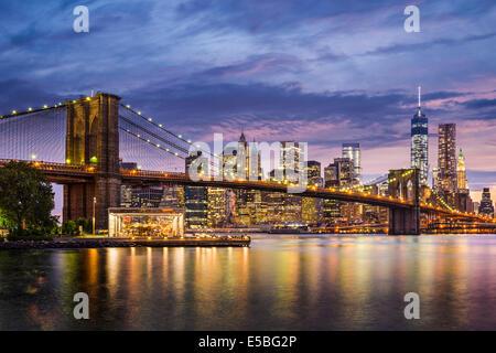 New York City, USA at twilight. - Stock Photo