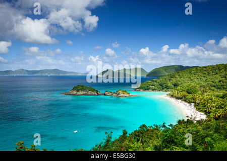 St. John, US Virgin Islands at Trunk Bay. - Stock Photo