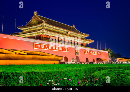 The Tiananmen Gate in Beijing, China. - Stock Photo