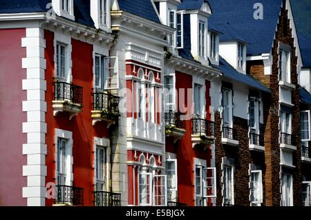 BAI LU TOWN, CHINA:  A row of handsome 18th century French-inspired buildings - Stock Photo
