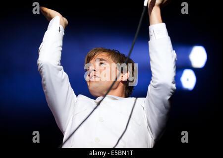 Lšrrach, Germany.  26th July, 2014. Per Almqvist (vocals) also known as Howlin' Pelle Almqvist from Swedish garage - Stock Photo
