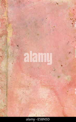 Old pink paper grunge texture - Stock Photo