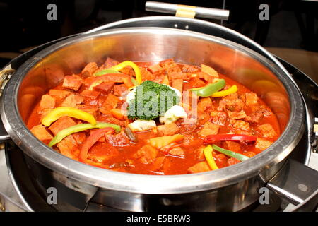 A Beef bourguignon classic French stew on dish - Stock Photo