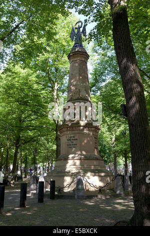Monument commemorating Karel Bernard von Saxen Weimar at the Lange Voorhout in The Hague, Holland - Stock Photo