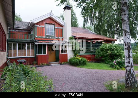 The world famous home of Swedish artists Carl and Karin Larsson at Lilla Hyttnas in Sundborn, Sweden - Stock Photo