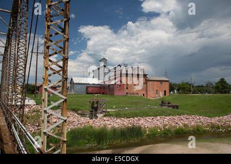Neligh, Nebraska - The Neligh Mill Historic Site, a 19th century water-powered flour mill. - Stock Photo