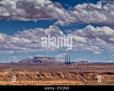 Navajo Generating Station coal-fired steam plant near Page, Arizona - Stock Photo