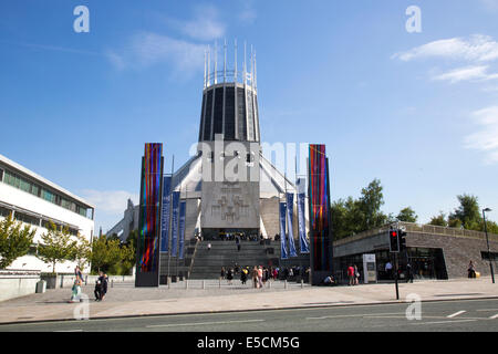 Metropolitan Cathedral of Christ the King is the cathedral of the Roman Catholic Archdiocese of Liverpool in Liverpool, - Stock Photo