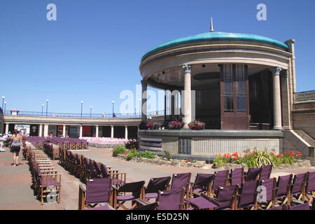 Eastbourne bandstand East Sussex - Stock Photo