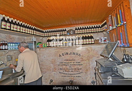 A Ginjinha Lisbon Portugal - Stock Photo