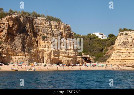 Praia da Marinha beach ( Marinha beach ), Algarve, Portugal Europe - Stock Photo