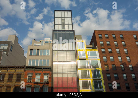Manhattan Lower East Side buildings in NYC - Stock Photo