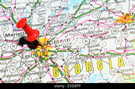 Atlanta Georgia USA City Map Stock Photo Royalty Free Image - Atlanta in us map
