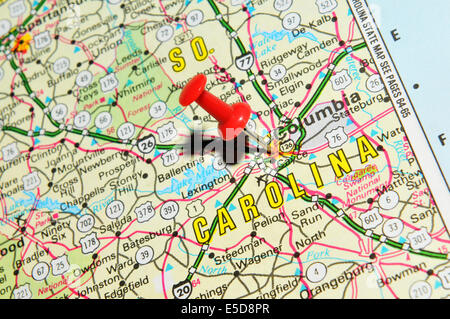 Jacksonville On Us Map Columbia On Us Map Stock Photo