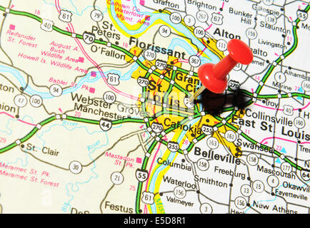 the map st louis on us map stock po