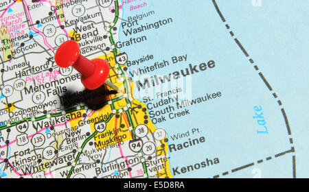 Map Of The State Of Wisconsin USA Stock Photo Royalty Free - Milwaukee on us map