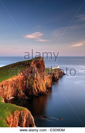 Neist point lighthouse on the Isle of Skye - Stock Photo