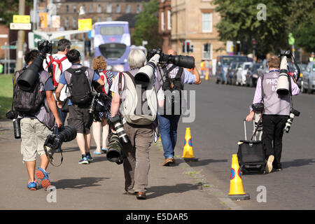 Glasgow Scotland 28 Jul 2014. Commonwealth Games day 5.  General scenes from around the venues as workers, athletes - Stock Photo