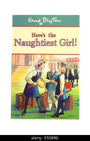 Enid Blyton's children's book Here's the naughtiest girl. - Stock Photo