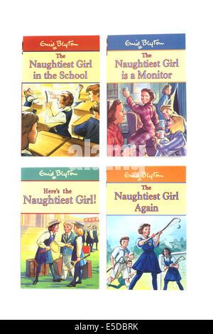 Enid Blyton's children's books The naughtiest girl. - Stock Photo