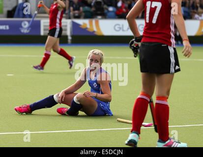 Glasgow Scotland 28 Jul 2014. Commonwealth Games day 5.   Scotland 2 v 0 Wales women's hockey. Credit:  ALAN OLIVER/Alamy - Stock Photo
