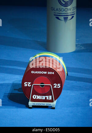 Clyde Auditorium Glasgow Scotland 28 Jul 2014. Commonwealth Games day 5.  Men's Weightlifting 85kg Grp B Credit: - Stock Photo