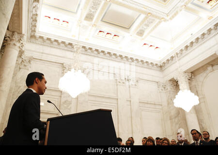Washington, DC, USA. 28th July, 2014. Four Latino cabinet members being recognized by members of congress and other - Stock Photo