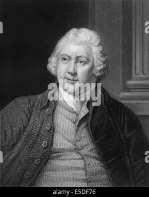Steel engraving, c. 1860, Sir Richard Arkwright, 1732-1792, a leading entrepreneur during the early Industrial Revolution - Stock Photo