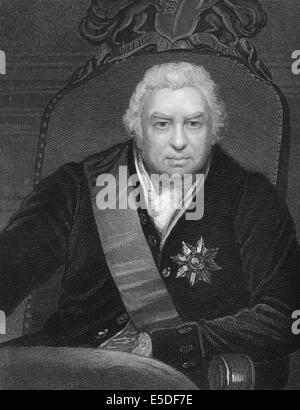 Steel engraving, c. 1860, Sir Joseph Banks, 1st Baronet, GCB, PRS, 1743-1820, an English naturalist, botanist, - Stock Photo