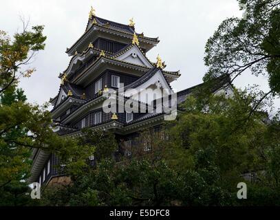Okayama Castle in Japan - Stock Photo