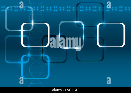 Abstract technical background with DNA and lights - available as eps-vector and jpg-file - Stock Photo