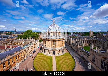Radcliffe Camera, Oxford viewed from the University Church - Stock Photo