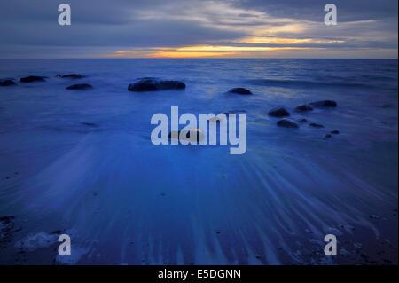 Dawn over the Baltic Sea, Fehmarn Island, Schleswig-Holstein, Germany - Stock Photo