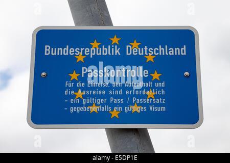 Germany, Lower Saxony, Customs sign - Stock Photo