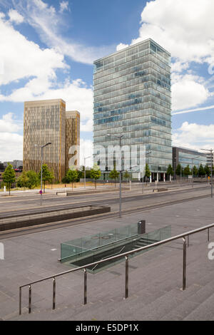 Luxembourg, Luxembourg City, European Quarter, European Court of Justice, view from European Square - Stock Photo