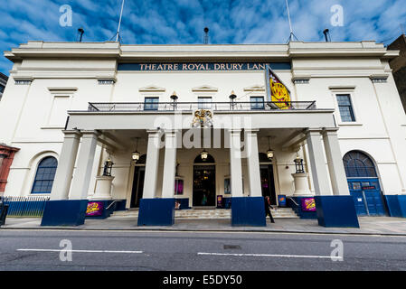 The Theatre Royal, Drury Lane, commonly known as Drury Lane, is a West End theatre in Covent Garden, London - Stock Photo