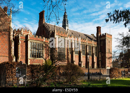 The Great Hall, also called New Hall at Lincoln's Inn, viewed from Lincoln's Inn Fields. The Honourable Society - Stock Photo