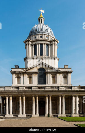 The dome above the chapel at The Old Royal Naval College. The ORNC is the architectural centrepiece of Maritime - Stock Photo