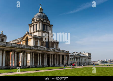 The dome above the Painted Hall at The Old Royal Naval College. The ORNC is the architectural centrepiece of Maritime - Stock Photo