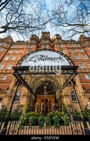 The Landmark London is a five-star hotel on Marylebone Road on the northern side of central London, England - Stock Photo