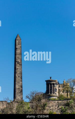 The Political Martyrs' Monument is a Category A listed memorial in the Old Calton Cemetery on Calton Hill, Edinburgh - Stock Photo