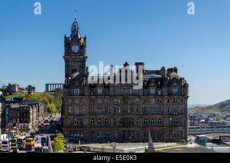 The Balmoral is a luxury five-star hotel and landmark in Edinburgh, Scotland - Stock Photo