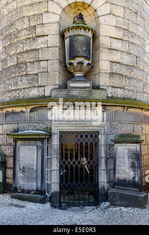 The philosopher David Hume's mausoleum in Old Calton Cemetery (properly called Old Calton Burial Ground) - Stock Photo