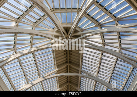 The atrium roof of the Grand Gallery of the The National Museum of Scotland, Edinburgh - Stock Photo