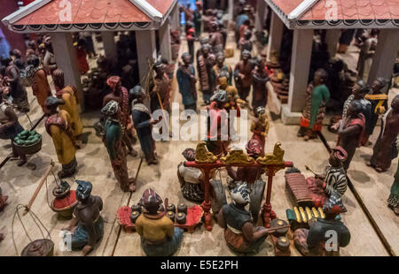 Amsterdam, Holland, inside, The Netherlands, the Rijksmuseum, Detail, Slavery Theme Sculpture, in Indonesia - Stock Photo