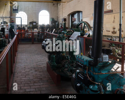 Power Hall of National Waterways Boat Museum Ellesmere Port Cheshire home to nation's collection Canal river waterway - Stock Photo