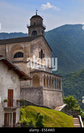 Bagolino Cathedral, Bagolino, Italy - Stock Photo